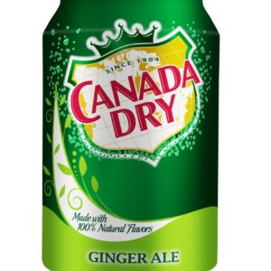 Canada Dry - Ginger Ale 12oz Can Case