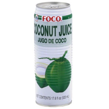 Foco - Coconut Water 18oz Can Case - 24 Pack
