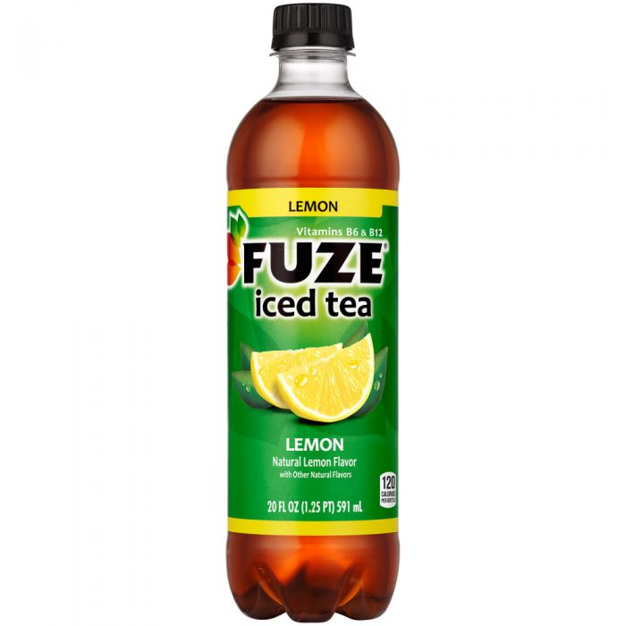 Fuze Fusions Lemon Iced Tea 20 Oz Bottle 24pk Case New York Beverage