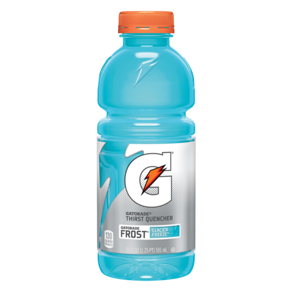 Gatorade - 20 oz Frost Glacier Freeze Bottle 24pk Case