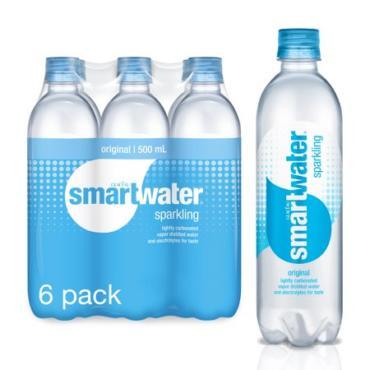 Glaceau - Smartwater Sparkling 16.9oz (500ml) Bottle Case - 24 Pack