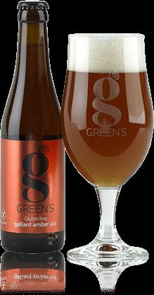 Green's - Gluten Free Gallant Amber Ale 500ml (16.9oz) Bottle 24pk Case