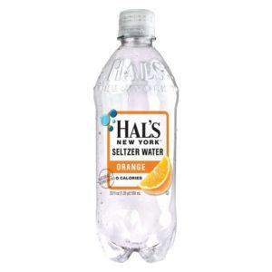 Hal's - New York Seltzer Orange 20oz Bottle Case - 24 Pack