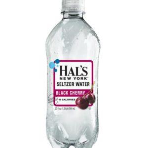 Hal's - New York Seltzer Black Cherry 20oz Bottle Case - 24 Pack