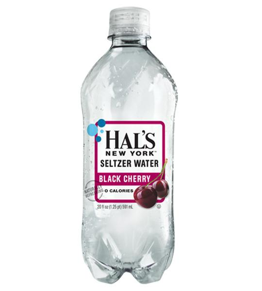 Hal's - New York Seltzer Black Cherry 20oz Bottle Case - 24 Pack