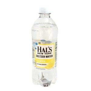 Hal's - New York Seltzer Lemon 20oz Bottle Case - 24 Pack