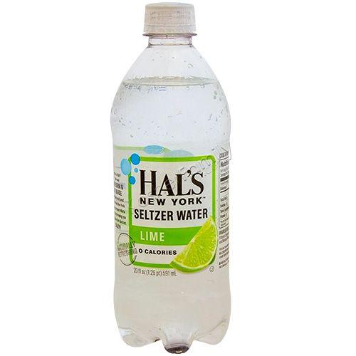 Hal's - New York Seltzer Lime 20oz Bottle Case - 24 Pack