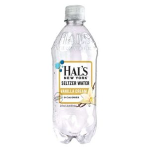 Hal's - New York Seltzer Vanilla Cream 20oz Bottle Case - 24 Pack