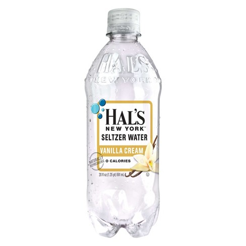 Hal's - New York Seltzer Vanilla Cream 20oz Bottle Case - 24 Pack