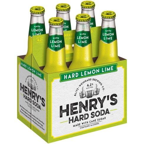 Henry's - Hard Lemon Lime Soda 12oz Bottle 24pk Case