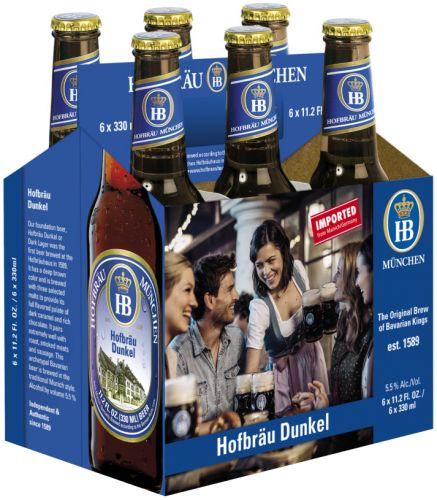 Hofbrau - Dunkel 330ml (11.2oz) Bottle 24pk Case