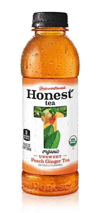 Honest - Unsweetened Peach Ginger Tea 16.9oz Bottle Case