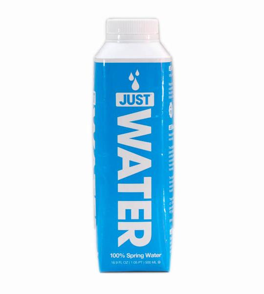 Just Water - 500ml (16.9oz) Paper-Based Bottle Case - 12 Pack
