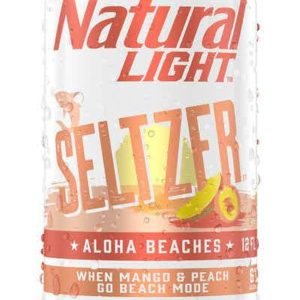 Natural Light - Aloha Beaches Mango Peach Hard Seltzer 12oz Can Case