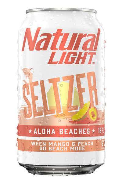 Natural Light - Aloha Beaches Mango Peach Hard Seltzer 12oz Can Case