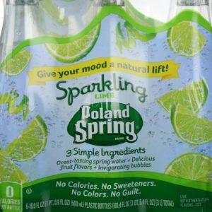 Poland Spring - Sparkling Lime 16.9oz Bottle Case - 24 Pack