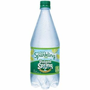 Poland Spring - Sparkling Lime 33oz Plastic Bottle Case - 12 Pack