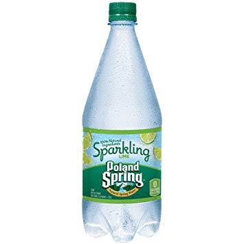 Poland Spring - Sparkling Lime 33oz Plastic Bottle Case - 12 Pack