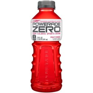 Powerade - Zero Fruit Punch 20oz Bottle Case