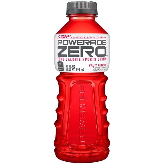 Powerade - Zero Fruit Punch 20oz Bottle Case
