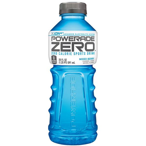 Powerade - Zero Mixed Berry 20oz Bottle Case
