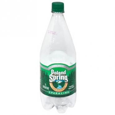 Poland Spring - Sparkling Mineral (Plain) 33oz Plastic Bottle Case - 12 Pack