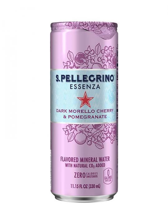San Pellegrino - Dark Cherry & Pomegranate 330ml (11oz) Can Case - 24 Pack