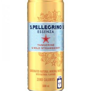 San Pellegrino - Tangerine & Wild Strawberry 330ml (11oz) Can Case - 24 Pack