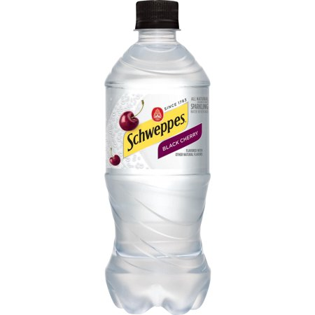 Schweppes - Black Cherry Sparkling Water 20oz Bottle Case - 24 Pack
