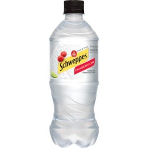 Schweppes - Cranberry Lime Sparkling Water 20oz Bottle Case - 24 Pack