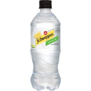 Schweppes - Lemon Lime Sparkling Water 20oz Bottle Case - 24 Pack