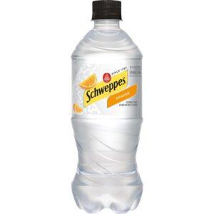 Schweppes - Orange Sparkling Water 20oz Bottle Case - 24 Pack