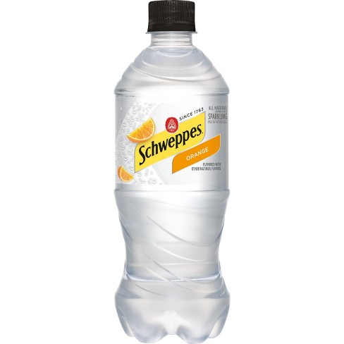 Schweppes - Orange Sparkling Water 20oz Bottle Case - 24 Pack