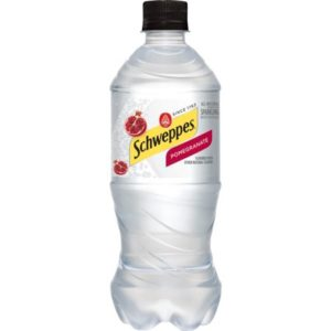 Schweppes - Pomegranate Sparkling Water 20oz Bottle Case - 24 Pack