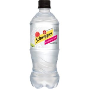 Schweppes - Raspberry Lime Sparkling Water 20oz Bottle Case - 24 Pack