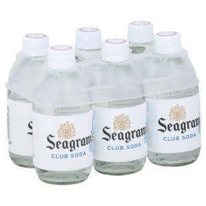 Seagram's - Club Soda 10oz Glass Bottle - 24 Pack