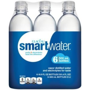 Glaceau - Smartwater Still 16.9oz (500ml) Plastic Bottle Case - 24 Pack