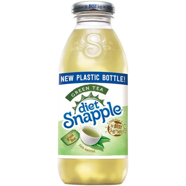 Snapple - Diet Green Tea 16oz Plastic Bottle Case