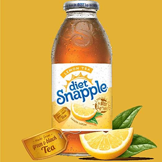 Snapple - Diet Lemon Tea 16oz Plastic Bottle Case