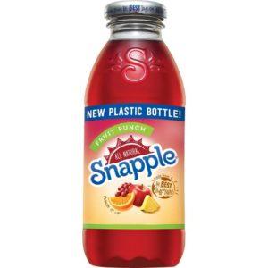 Snapple - Fruit Punch 16oz Plastic Bottle Case