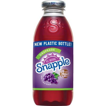 Snapple - Grapeade 16oz Plastic Bottle Case