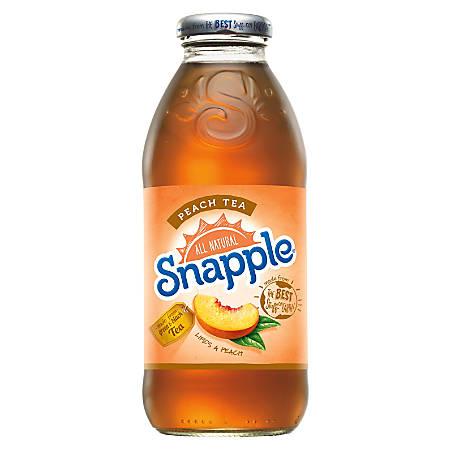 Snapple - Peach Tea 16oz Plastic Bottle Case