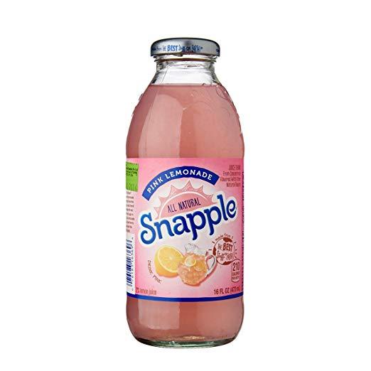 Snapple - Pink Lemonade 16oz Plastic Bottle Case