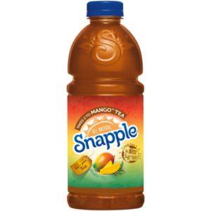 Snapple - Takes 2 To Mango Tea 32oz Plastic Bottle Case