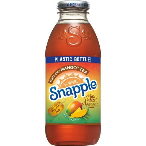 Snapple - Takes Two To Mango Tea 16oz Plastic Bottle Case