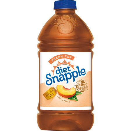 Snapple - Diet Peach Tea 64oz Plastic Bottle Case