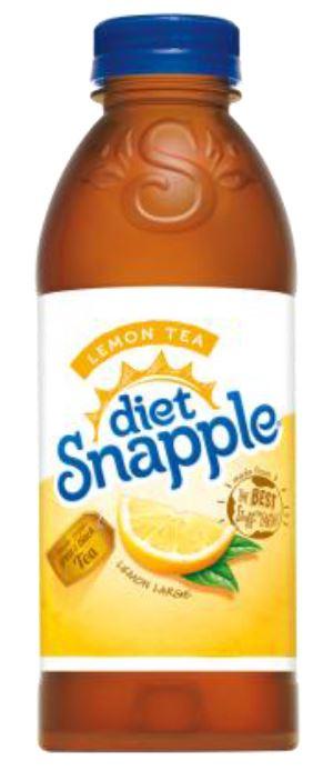 Snapple - Diet Lemon Tea 20oz Plastic Bottle Case
