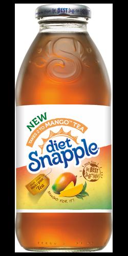 Snapple - Diet Mango Tea 16oz Plastic Bottle Case