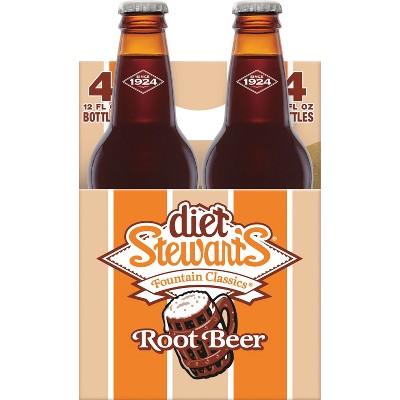 Stewart's - Diet Root Beer 12 oz Bottle 24pk Case