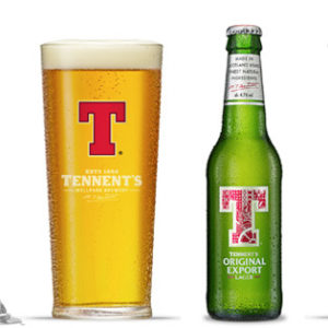 Tennent's - Lager 330ml (11.2oz) Bottle 24pk Case